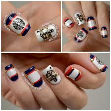 the manicured amateur nautical nail art featuring born pretty