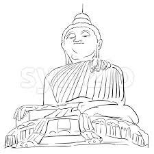 big buddha phuket outline sketch vector illustration 119119 symzio