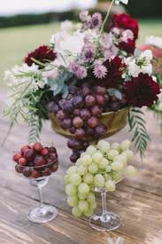 Wedding Flowers In October Berry And Autumn Wedding Inspiration Fruit Centerpieces Autumn