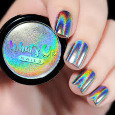 whats up nails holographic powder whats up nails