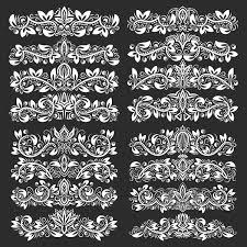 vintage floral borders ornaments vectors 01 vector floral