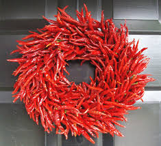 organic red chili pepper wreath table centerpiece wall