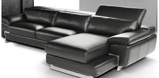 Nicoletti Leather Sofa by I Italian Black Leather Sectional Nicoletti