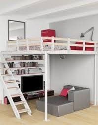 Bunk Bed With Stairs And Desk by Hampton Loft Set With Cushy U0026 Base Full Simply White Pbteen