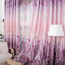 Purple Floral Curtains Favorite Country Purple Floral Energy Saving Curtains