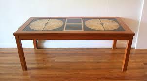 tile top coffee table coffee table mid century modern danish teak tile top coffee table