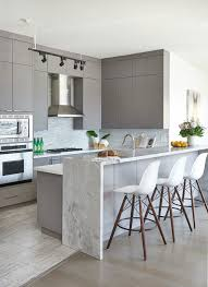 toronto contemporary kitchen cabinets with gray pedestal