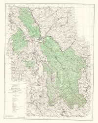 Map Montana Topographical Map Flathead National Forest Montana 1948