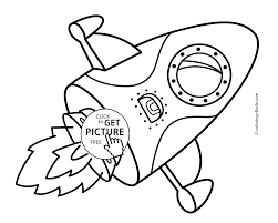 rocket coloring pages for kids printable free