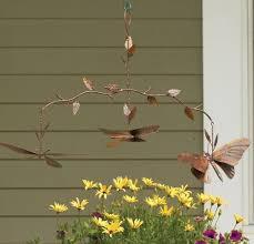 Copper Garden Art Butterfly Branch Mobile Metal Wind Catcher Garden Art Ancient