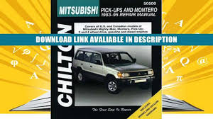 download mitsubishi pick ups and montero 1983 95 haynes repair