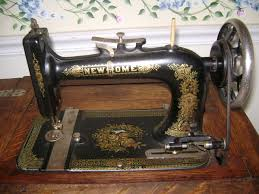 Antique Singer Sewing Machine And Cabinet New Home Sewing Machine In Cabinet Circa Late 1800s Collectors