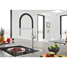 kitchen grohe kitchen faucet with sink and doors plus white wall