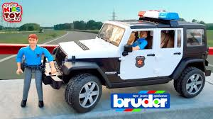 police jeep toy police car bruder kids toy cars video for kids wrangler rubicon
