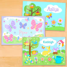 kids placemats personalized kids placemat set of 3 personalised