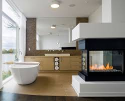 Fireplaces In Homes - contemporary bathroom fireplaces atticmag