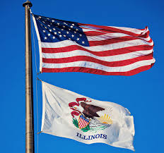 American Flag Upside Down Illinois Flag State Flag Of Illinois