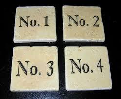 omni gel transfer method make vintage number coasters the