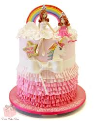 cake photos princess ruffle rainbow cake birthday cakes