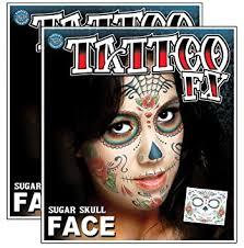 amazon com day of the dead sugar skull temporary