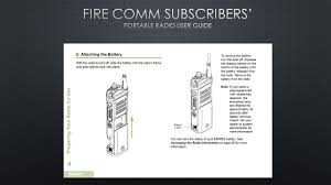 fire comm subscribers u0027 portable radio user guide ppt video