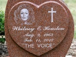 houston s gravestone revealed reads i will always