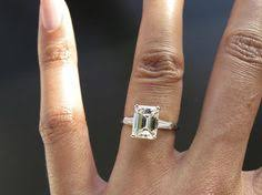 solitaire emerald cut engagement rings emerald cut solitaire engagement rings on wedding decorate