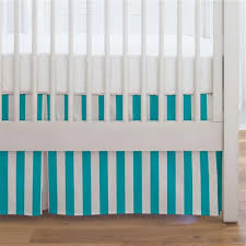 teal crib skirts dust ruffles for cribs carousel designs