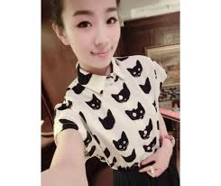 cat blouse kawaii cat blouse pictures photos and images for