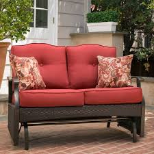 better homes and gardens providence outdoor loveseat glider bench