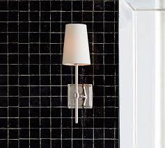 Bathroom Sconces Chrome Bathroom Sconces Pottery Barn
