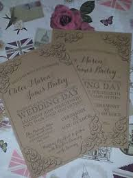 wedding invitations ebay handmade rustic pearl and lace wedding invitations ebay