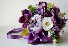 Shabby Chic Wedding Bouquets by Silk Wedding Bouquet Purple Peony Bridal Bouquet Vintage Wedding