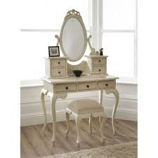 Mirrored Makeup Vanity Table Bedroom Furniture Bedroom Computer Furniture Antique Creamy Oak