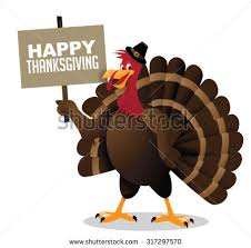 happy thanksgiving signs turkey holding happy thanksgiving sign stock illustration