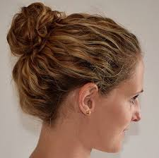 curly hair in high bun with bang 55 styles and cuts for naturally curly hair in 2018