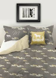 rustic rearing horses equestrian duvet bedding cover the