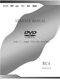 71063494 home theatre rca rtd152 service manual electrostatic