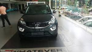 tata nexon spotted in sundown grey colour at a dealership