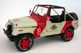 jeep model kit 1992 jurassic park gas jeep wrangler 1 24 scale model