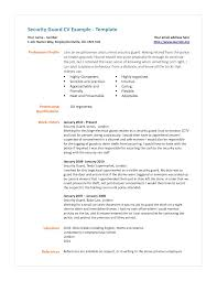 collection of solutions entry level security guard resume examples