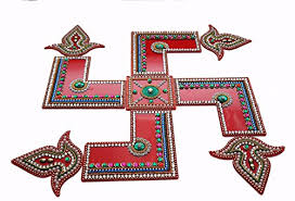 Swastik Decoration Pictures 1impreso Lukshmi Feet U0026 Swastik Rangoli At Glowroad 4kgs2v