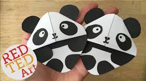 panda bear bookmark corner red ted art u0027s blog