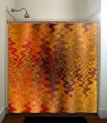 Orange Bathroom Ideas Colors Orange Brown Chevron Shower Curtain Bathroom Decor Fabric Kids