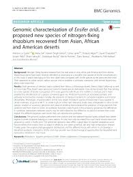 genomic characterization of ensifer aridi a proposed new species