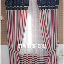 red white striped cheap modern unique curtains with hesdings
