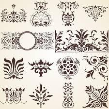 vintage royal ornaments design elements vector free vector in