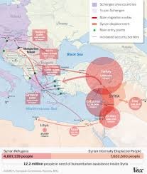 Turkey Map Europe by The Syrian Refugee Crisis Explained In One Map Vox