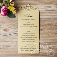 wedding menu cards laser cut menu card wcl0010 wpl0156 matching card wcl0010