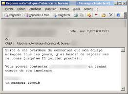 outlook message absence bureau top 10 des vrais messages d absences de bureau topito